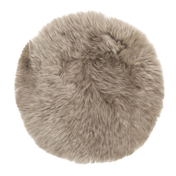 New Zealand Sheepskin Seat Pad - Long Wool - Taupe
