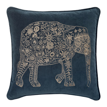 Midnight Elly Velvet Pillow - 45x45cm