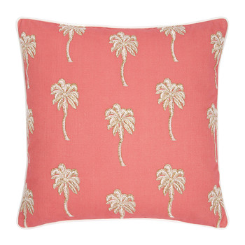 Palmier Cushion - Coral