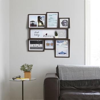 Edge Multi Photo Display - Aged Walnut