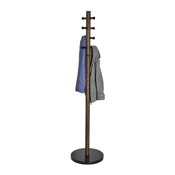 Pillar Coat Rack - Black/Walnut