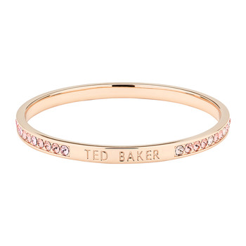 Clem Thin Bangle - Rose Gold/Light Pink
