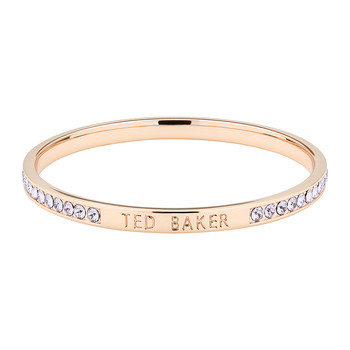 Clem Thin Bangle - Rose Gold/Violet