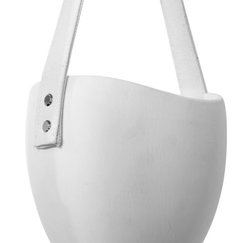 Oval Hanging Flower Pot - White