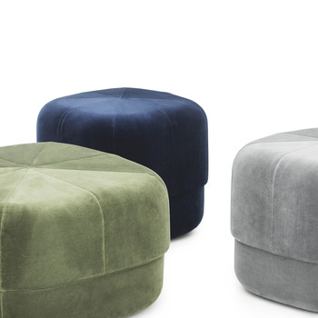 Circus Pouf - Grey - Large