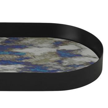 Oval Coupled Tray - Blue - Large