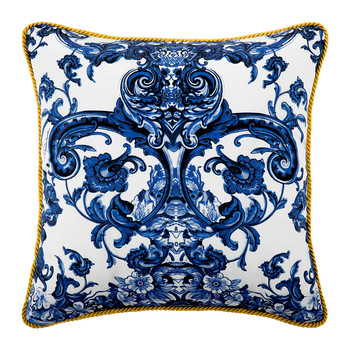 Azuleyos Silk Bed Pillow - 40x40cm - Blue