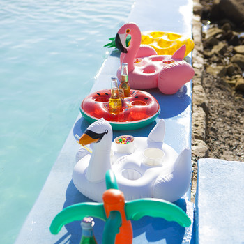 Inflatable Family Drinks Holder - Flamingo