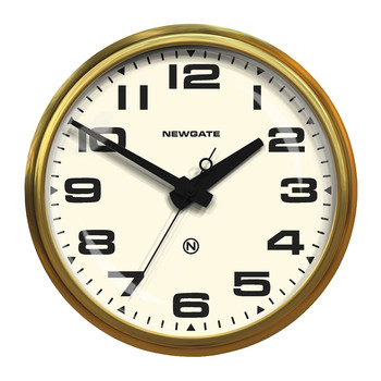 Brixton Wall Clock - Radial Brass - White Dial