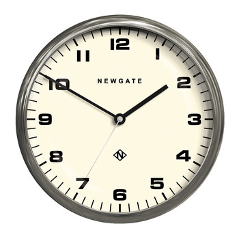 Chrysler Wall Clock - Burnished Steel