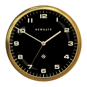 Chrysler Wall Clock - Reverse Dial - Radial Brass