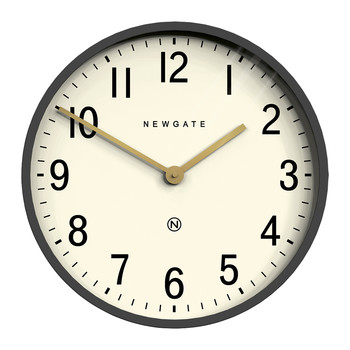 Mr Edwards Wall Clock - Matt Blizzard Gray