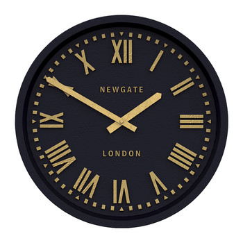 Power Station Wall Clock - Matt Petrol Blue