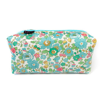 Box Cosmetic Bag - Liberty Betsy Turquoise