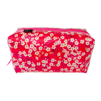 Box Cosmetic Bag - Liberty Mitsi Hot Pink