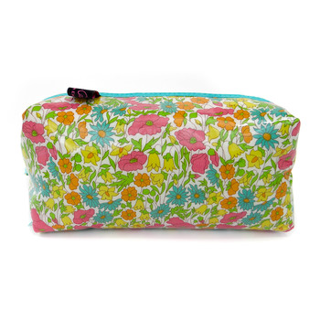 Box Cosmetic Bag - Liberty Poppy and Daisy Yellow