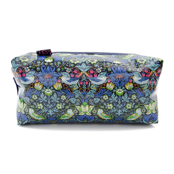 Box Cosmetic Bag - Liberty Strawberry Thief Blue