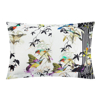 Bird Ramage Bed Set - Super King - White
