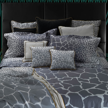 Jerapah Duvet Set - Super King - Grey