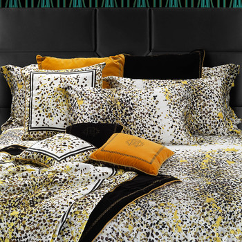 Scamuskin Bed Set - Super King - Yellow