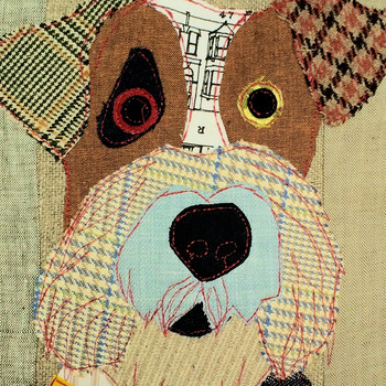 Coussin Freddy le fox terrier - 50x50cm