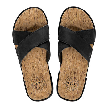 Men's Ithan Cork Sandals - Black