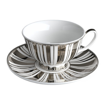 Gold & Silver Stripes Tea Set - Set of 4