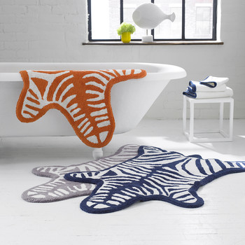 Zebra Bath Mat - Grey