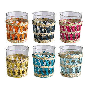 Reed Tea Glasses - Set of 6