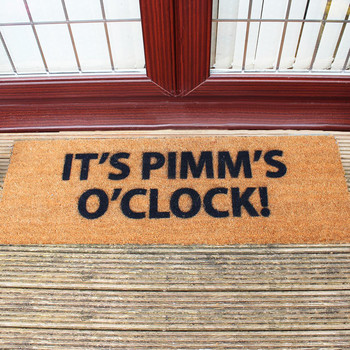 Pimms O'clock Door Mat
