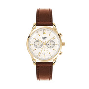 westminster-leather-strap-watch-with-trio-dial-brown