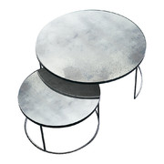 heavy-aged-mirror-coffee-table-set-round-clear