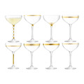 LSA International - Deco Assorted Gold Champagne Saucers