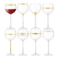 LSA International - Deco Assorted Gold Wine Glasses