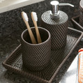 Pigeon and Poodle - Dalton Rattan Toothbrush Holder - Coffee