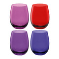 LSA International - Coro Water/Wine Tumblers - Set of 4 - Berry Assorted