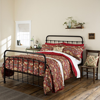 Strawberry Thief Crimson Bed Linen