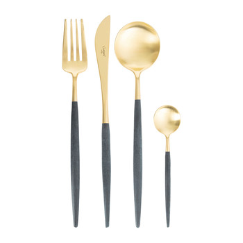Goa Blue and Gold Flatware