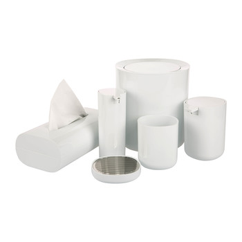 Birillo White Bathroom Accessory Set