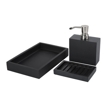 Moon Black Bathroom Accessory Set