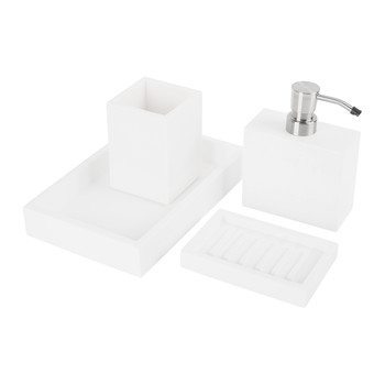 Moon White Bathroom Accessory Set