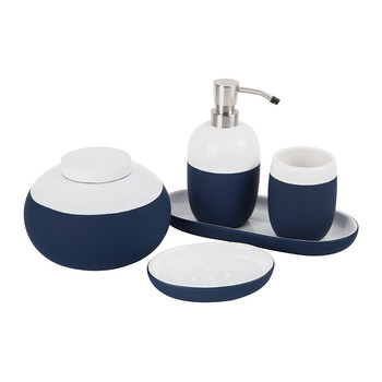 Gradient Bathroom Accessory Set - Blue