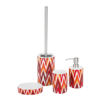 Ikat Red Bathroom Collection