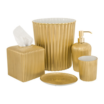 Reve D'une Antique Gold Bathroom Accessory Set