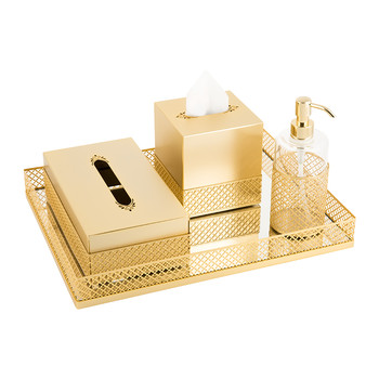 Firenze Antique Gold Bathroom Accessory Set