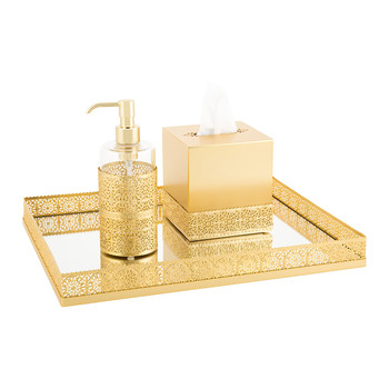 Marbella Antique Gold Bathroom Accessory Set