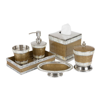 Classic Toffee Bathroom Accessory Set