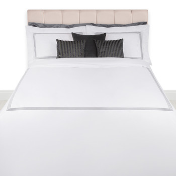 Tre Righe Lamé bed linen - Platinum