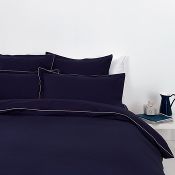 Cotton Percale Navy Bed Linen