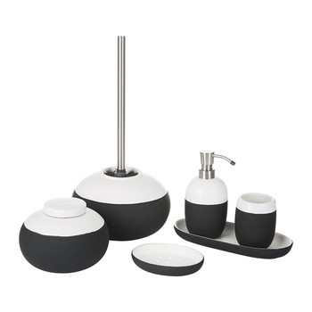 Gradient Bathroom Accessory Set   Black